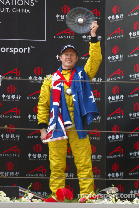 Ryan Briscoe (Australie) sur le podium