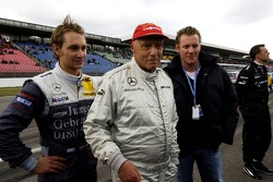 Mathias Lauda with his father Niki Lauda and his brother