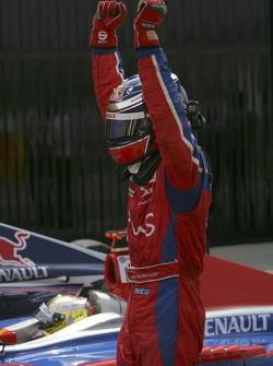 Michael Ammermuller celebrates victory