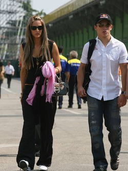 Christian Klien with this girlfriend