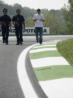 Race engineer Graziano Michelacci and test driver Neel Jani