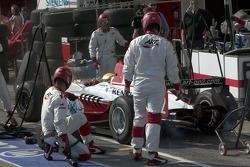 Pitstop for Lewis Hamilton