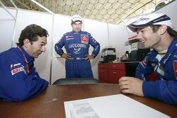 Marc Van Dalen, Daniel Elena and Sébastien Loeb