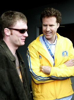 Dale Earnhardt Jr. and actor Will Ferrell talk