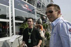 Christian Klien in front of the Red Bull Energy Station