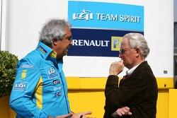 Flavio Briatore talks with Prof. Jürgen Hubbert, Board of Management DaimlerChrysler