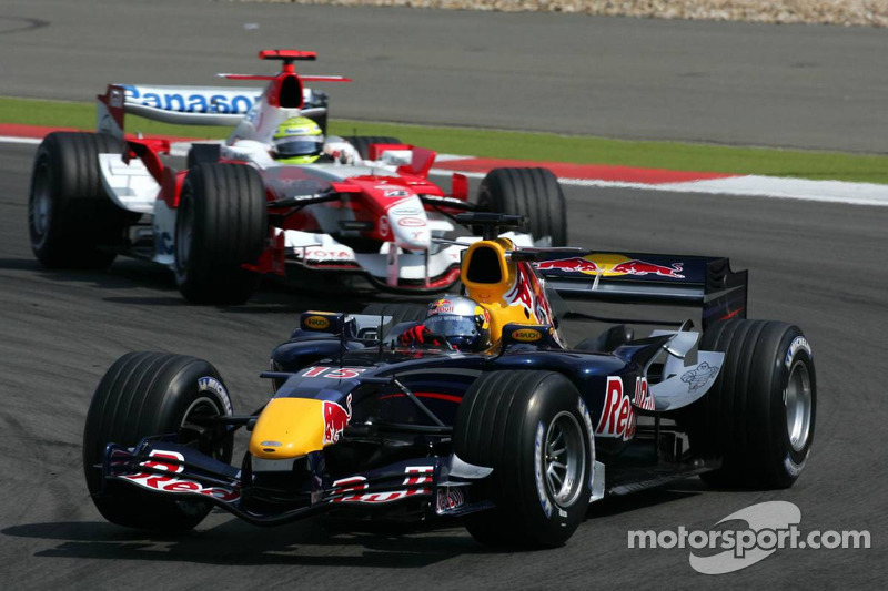 David Coulthard devant Ralf Schumacher