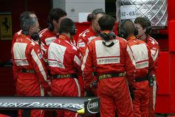 Scuderia Ecosse team members at work