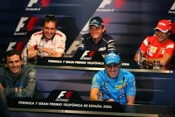 FIA Thursday press conference: Pedro de la Rosa, Fernando Alonso, Franck Montagny, Nico Rosberg and Felipe Massa
