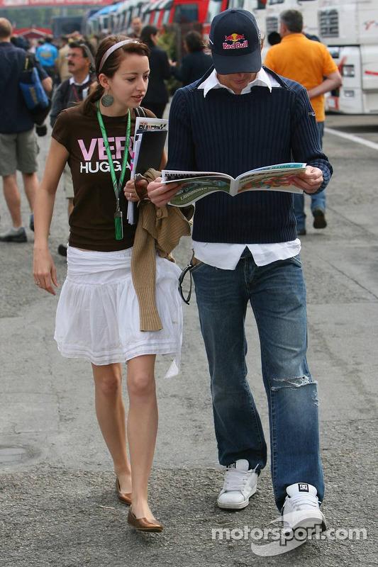 Scott Speed avec sa petite amie