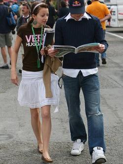 Scott Speed with his girlfriend