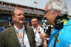 Wendelin Wedeking, CEO Porsche AG with Flavio Briatore