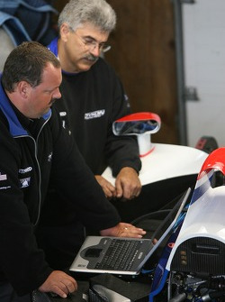 Dyson Racing team members at work