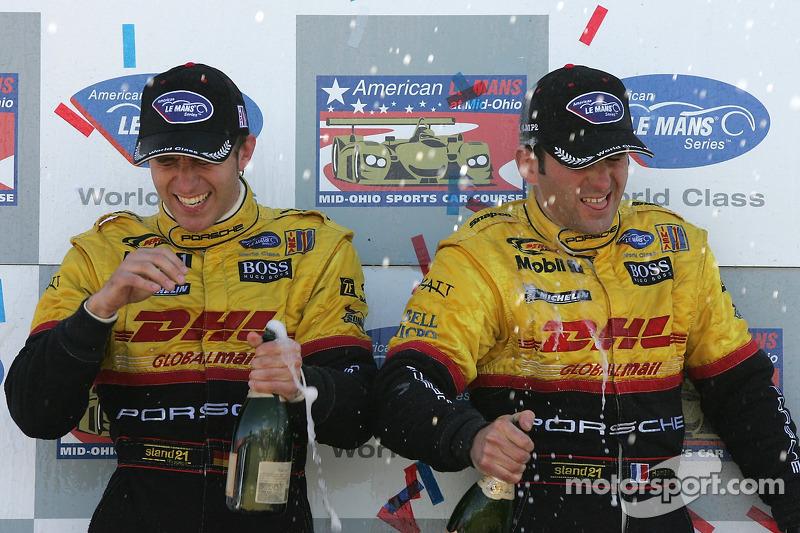 Podium LMP2: champagne pour Timo Bernhard et Romain Dumas