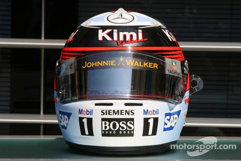 Casco edición especial Mónaco para Kimi Raikkonen