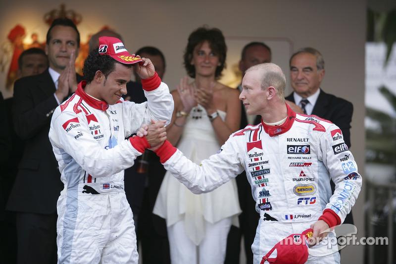 Lewis Hamilton premier, et Alexandre Premat troisième