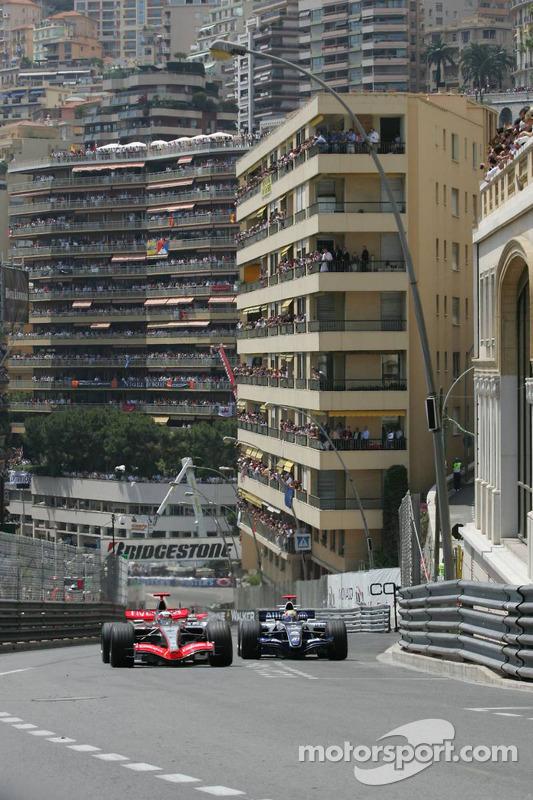 Kimi Räikkönen et Mark Webber