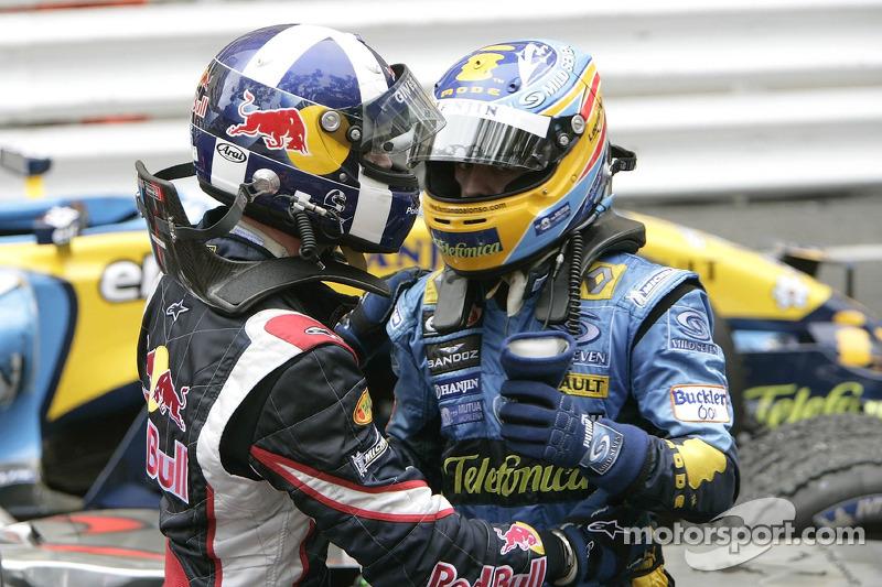 David Coulthard y Fernando Alonso