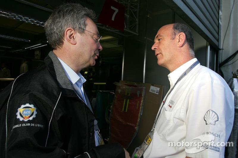 La ACO de Daniel Perdrix et l'Audi Sport de Dr Wolfgang Ullrich