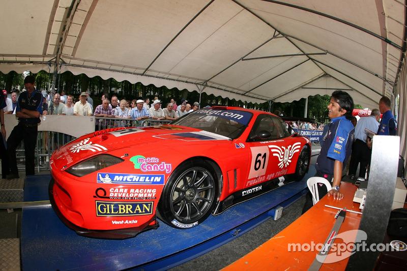 Cirtek Motorsport Ferrari 550 Maranello à la deuxième spéciale