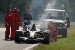 Jenson Button in trouble