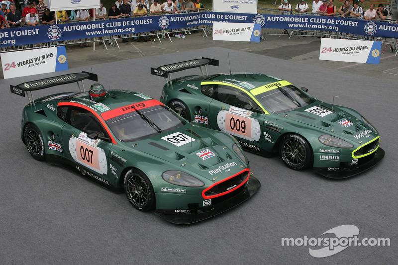 La paire de Aston Martin Racing Aston Martin DBR9
