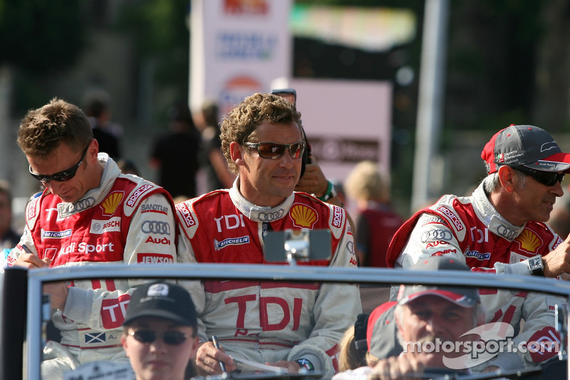 Allan McNish, Tom Kristensen et Rinaldo Capello