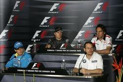 FIA press conference: Giancarlo Fisichella, Jacques Villeneuve, Kimi Raikkonen and Franck Montagny