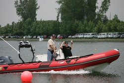 Boat on rowing basin