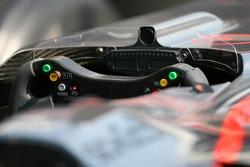 Steering wheel of the McLaren