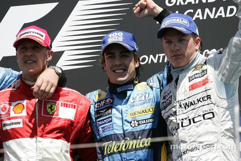 Подіум: 1. Фернандо Алонсо, Renault. 2. Міхаель Шумахер, Ferrari. 3. Кімі Райкконен, McLaren-Mercede