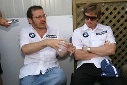 Jacques Villeneuve and Nick Heidfeld meet the press