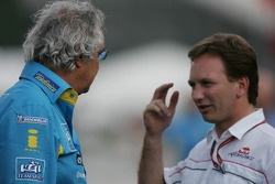 Flavio Briatore with Christian Horner