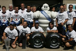 Michelin team celebrates 100th GP victory