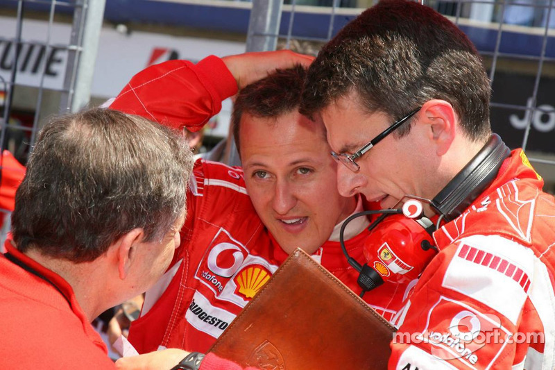 Jean Todt, Michael Schumacher et Chris Dyer
