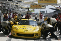 #63 Corvette Racing Corvette C6R in the pits