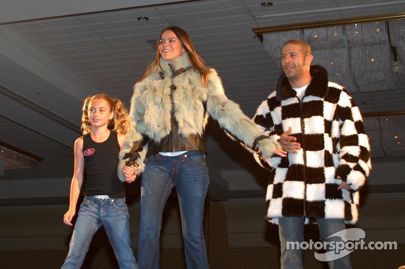 Calysta Herta avec Danni et Tony Kanaan