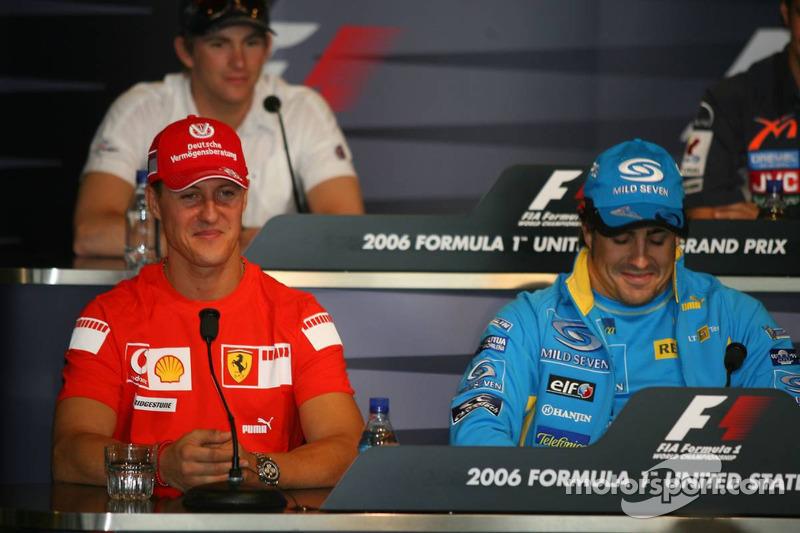 Conférence de presse de la FIA: Michael Schumacher et Fernando Alonso