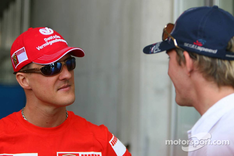 Michael Schumacher et Scott Speed