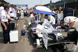 Jacques Villeneuve car on the grid