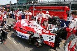 Ralf Schumacher car on the grid
