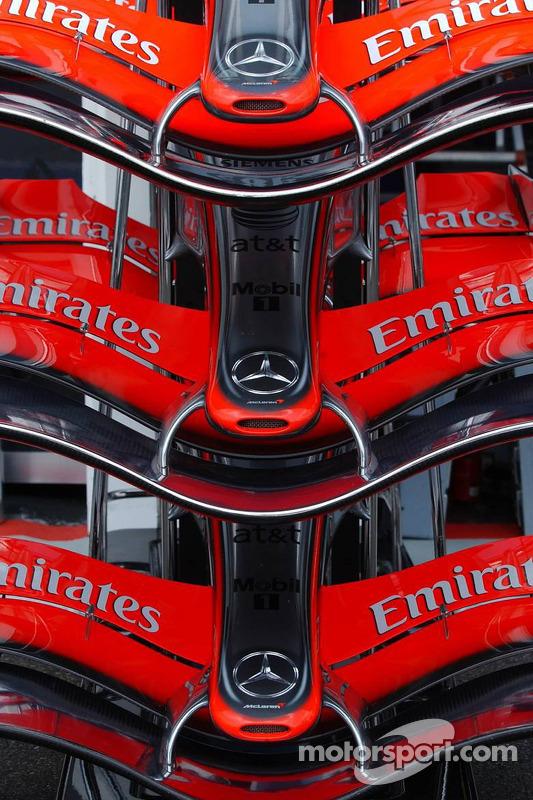 Ailerons avant de McLaren