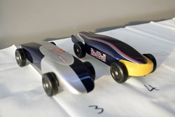 Red Bull chilled Thursday: Pinewood-Derby cars