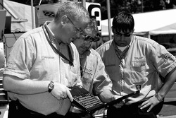 Corvette Racing crew members at work