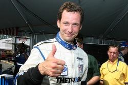 Pole winner Butch Leitzinger celebrates