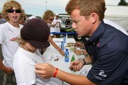 Patrick Long signs autographs