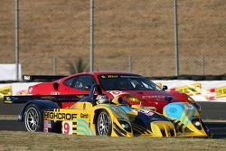 #9 Highcroft Racing Lola EX257: Duncan Dayton, Andy Wallace, #62 Risi Competizione Ferrari 430 GT Berlinetta: Jaime Melo, Mika Salo