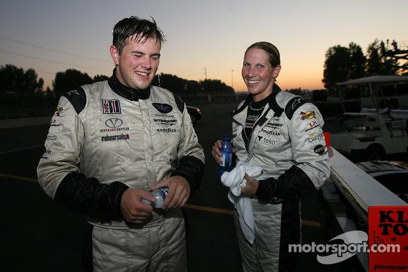 Les vainqueurs LMP2 Clint Field et Liz Halliday