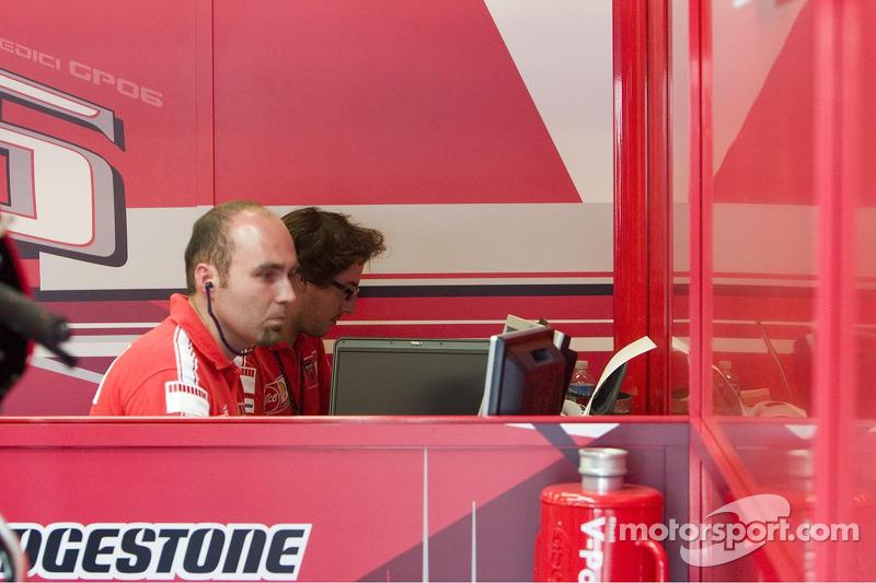 Equipo Ducati en el trabajo