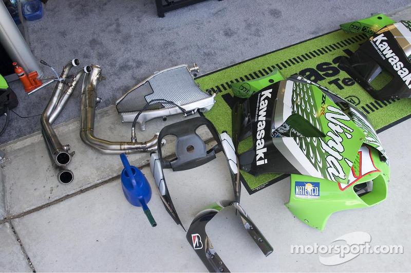 Une partie de la Kawasaki MotoGP